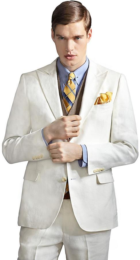 Brooks Brothers The Great Gatsby Collection Ivory Linen Jacket