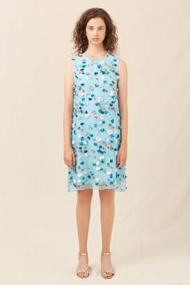 Mansur Gavriel Floral Embellished Mini Dress