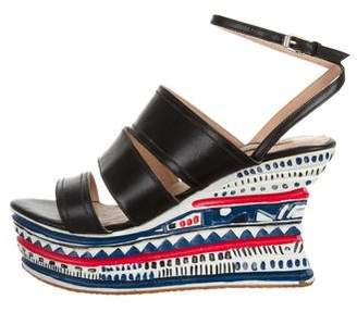 Opening Ceremony Painted Platform Wedges