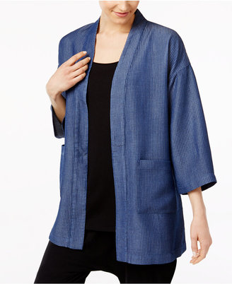 Eileen Fisher Denim Kimono Jacket $278 thestylecure.com