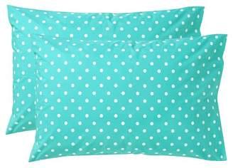 Pottery Barn Teen Dottie Pillowcases, Set of Two, Standard, Pool