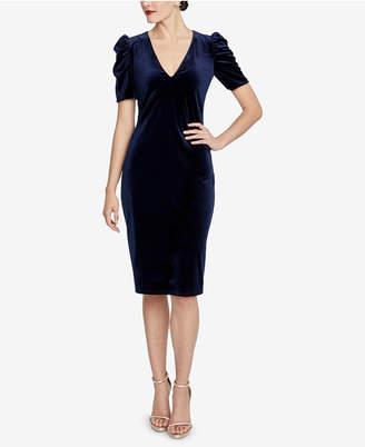 Rachel Roy Ruched Velvet Dress
