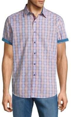 Robert Graham Geometric-Print Cotton Button-Down Shirt