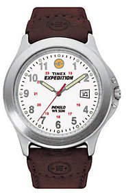 Timex Expedition Metal Field Watch with Leather Strap
