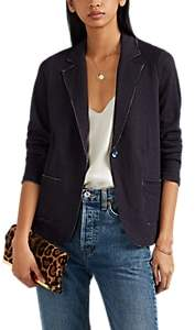 Barneys New York Women's Cotton-Cashmere One-Button Blazer - Navy