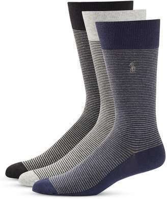 Polo Ralph Lauren 3-Pack Feeder Stripe Crew Socks