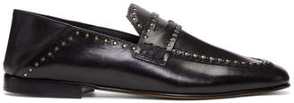 Isabel Marant Black Vegetal Studded Loafers