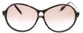 Victoria Beckham Marbled Oversize Sunglasses