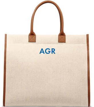 L/UNIFORM Monogrammable Carry-All Canvas Tote