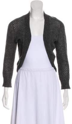 Nina Ricci Mohair-Blend Open Knit Cardigan