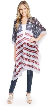 Riah Fashion Knee Length Kimono-Cardigan