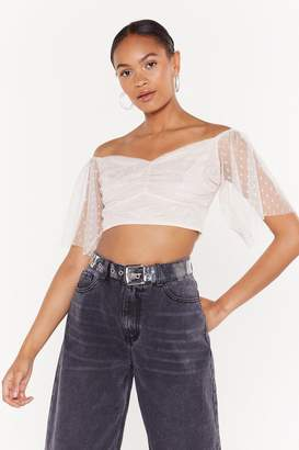 5a8440c9a27 Nasty Gal Dot Off the Press Sweetheart Crop Top