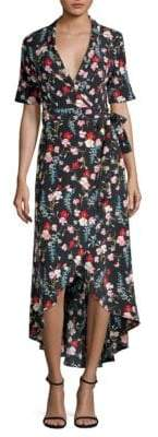 Equipment Silk Imogene Floral Wrap Dress