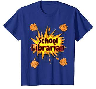 Funny Teacher T-Shirt School Librarian Comic Clouds Cool