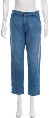 Current/Elliott High-Rise Chambray Pants