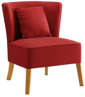 Walker Edison Modern Accent Chair With Curved Back