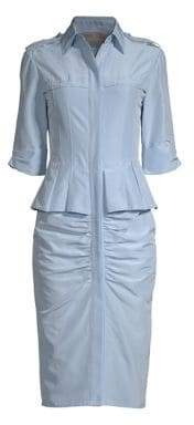 Jason Wu Women's Taffeta Ruched Shirtdress - Blue - Size 4