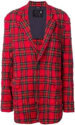 R 13 oversized tartan blazer