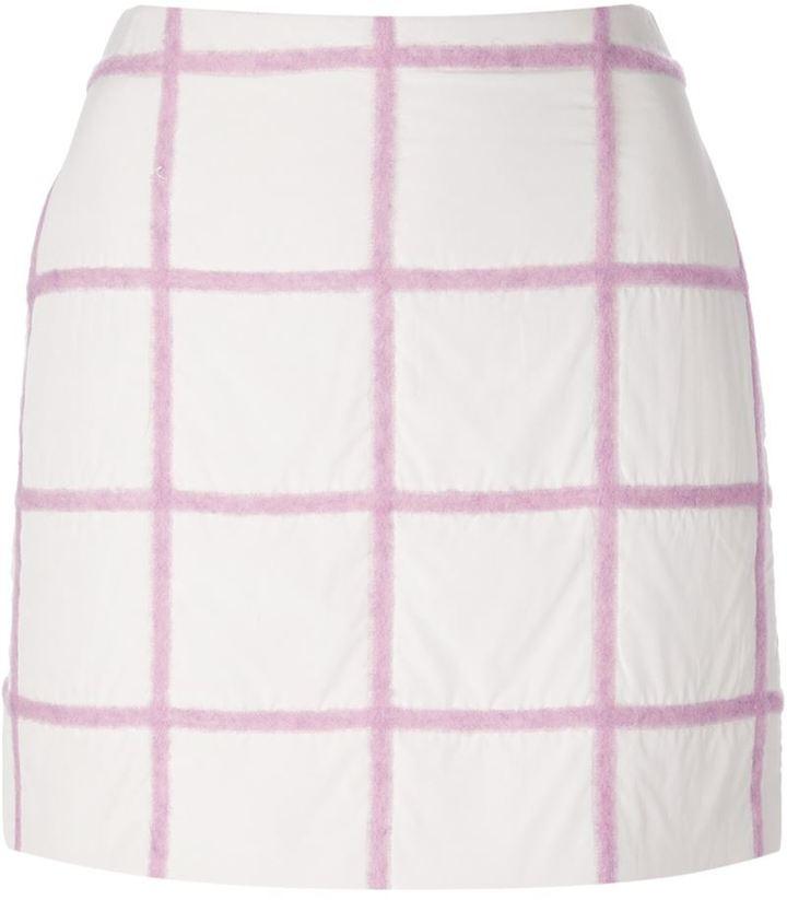 3.1 Phillip Lim grid mini skirt
