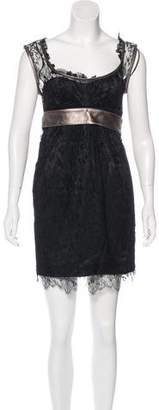 Dolce & Gabbana Belted Lace Dress