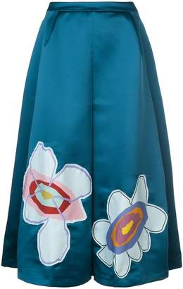 Mira Mikati flower patch midi skirt