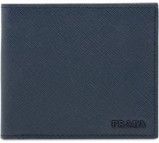Prada leather logo wallet