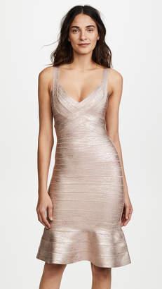 Herve Leger Scoop Neck Midi Dress