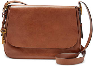 Fossil Harper Large Leather Saddle Crossbody $198 thestylecure.com