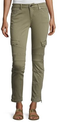 True Religion Halle Cropped Skinny Cargo Pants, Burnt Olive $199 thestylecure.com