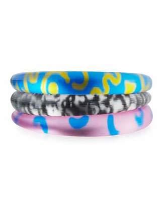 Alexis Bittar Double Dare Bangle Bracelet Set $275 thestylecure.com