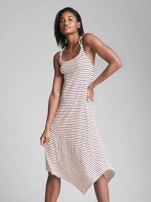 Gap Asymmetrical Stripe Midi Dress