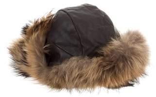 546a5bedf9805 Mens Black Fur Trapper Hat - ShopStyle Canada