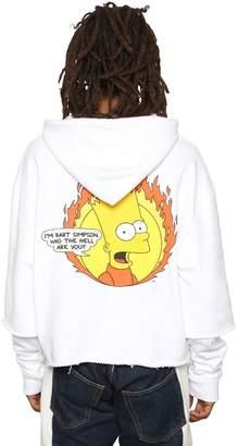 Off-White Off White Bart Printed Jersey Sweatshirt Hoodie