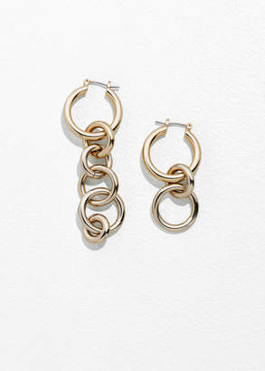 Asymmetric Circle Link Earrings