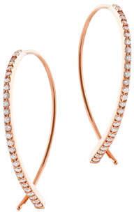 Lana Small Flawless Vol. 6 Diamond Upside Down Earrings in 14K Rose Gold