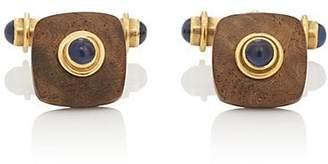 Deakin & Francis Men's Sapphire & Wood Cufflinks