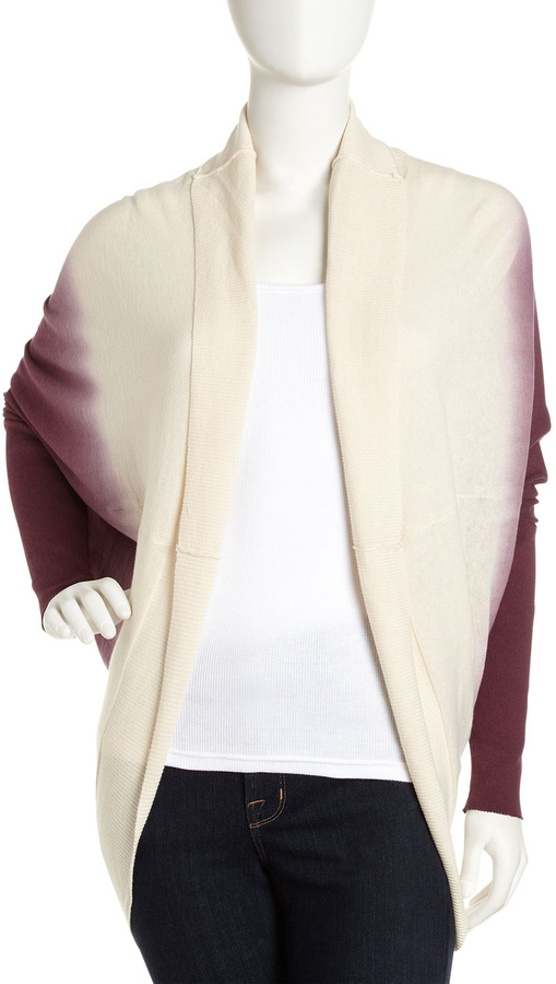 Young Fabulous & Broke Young Fabulous and Broke Cocoon Sweater, Burgundy Ombre