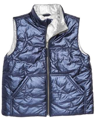 J.Crew crewcuts by Metallic Reversible Puffer Vest