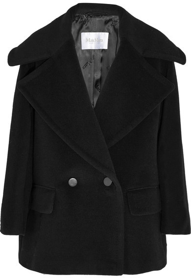 Max Mara Max Mara - Double-breasted Wool And Cashmere-blend Coat - Black