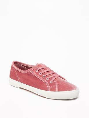 Old Navy Velvet Lace-Up Sneakers for Women