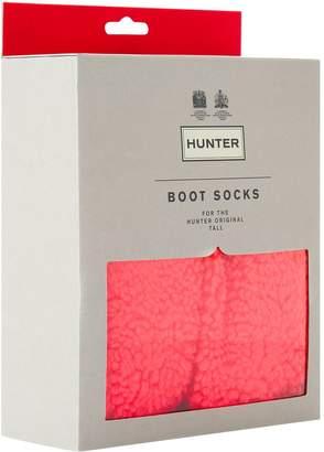 Hunter Textured Fleece Boot Socks