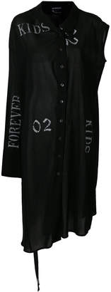 Ann Demeulemeester asymmetric shirt dress
