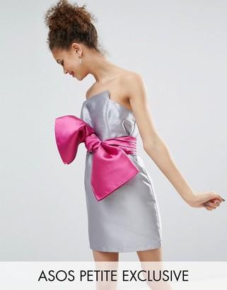 ASOS Petite ASOS PETITE Structured 80's Bow Cocktail Dress $76 thestylecure.com