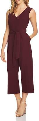 Vince Camuto Belted Crop Jumpsuit
