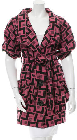 Chloé Chloé Patterned Wool Coat