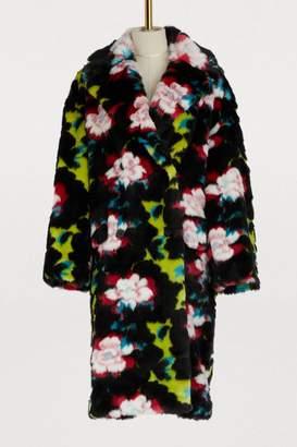 Kenzo Printed flowers long coat