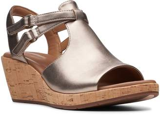 Clarks R) Un Plaza Way Wedge Sandal