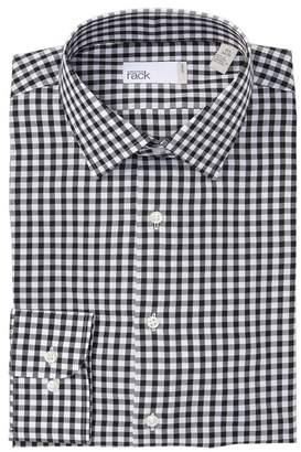 Nordstrom Rack Gingham Print Trim Fit Dress Shirt