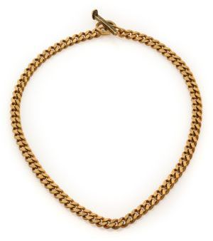 Giles & Brother Railroad Chain Toggle Neckace/Goldtone $165 thestylecure.com