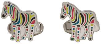 Paul Smith Multicolor Stripe Zebra Cufflinks